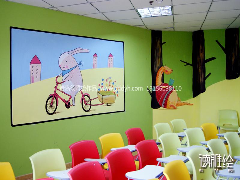 青岛幼儿园室内墙体彩绘